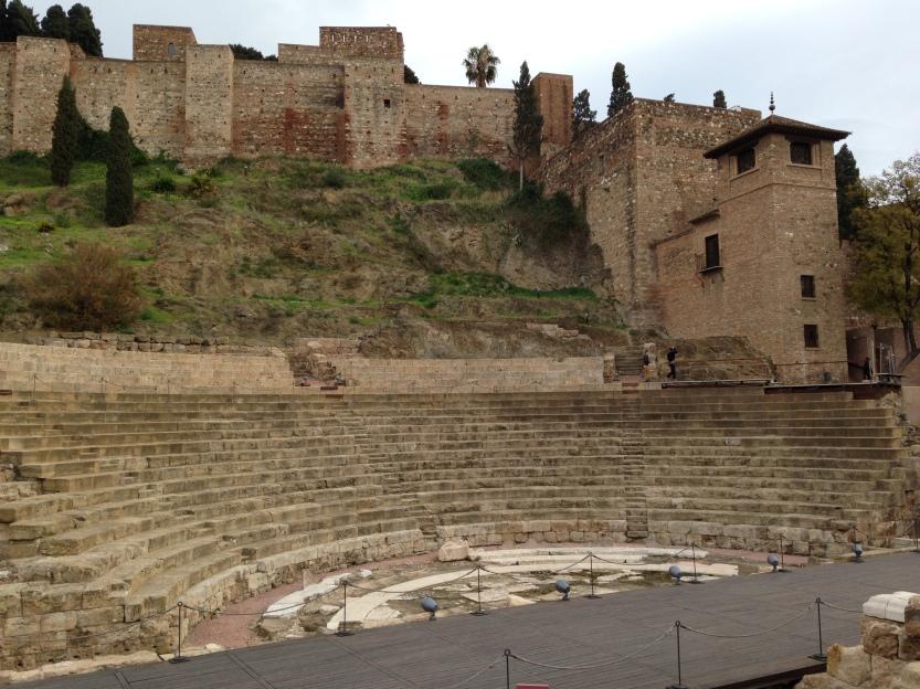 Naturbühne in Málaga. Die Römer waren auch mal da.